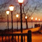 Lights Along the Promenade_Havre de Grace, Maryland, USA by Hope Ledebur