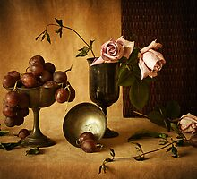 Grapes and Roses by Colleen Farrell