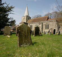 Pluckley -  village church - kent. by adam swaine