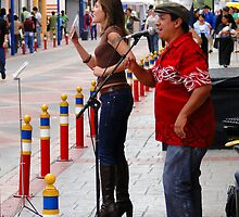Leather Street Performers by Al Bourassa