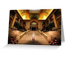 Legislative Marble Staircase Greeting Card
