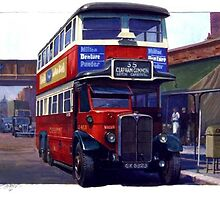 London Transport Renown six-wheeler. by Mike Jeffries