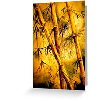 Tropics.. Heat and Old Bamboo Greeting Card