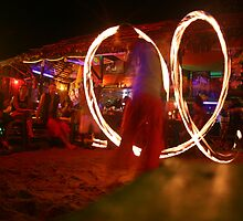 Beach and Bar- Fire twirling in Thailand by Tim and Loz .