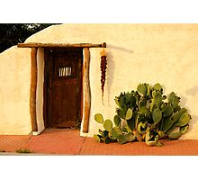 Red Door at Sunset - Mesilla, New Mexico Photographic Print