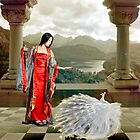 Red Lady and White Peacock by Sue Smith