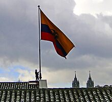 Quito, Ecuador Flag Lowering by Al Bourassa