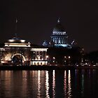 Quay of Petersburg in a night-time lighting by Tasha1111