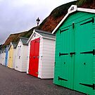 Beach Huts - Seaton by Samantha Higgs
