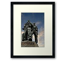 Spean Bridge commando monument, Scotland Framed Print