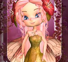 Cute Littel Fairy Greeting Card by Moonlake