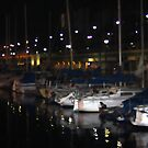 Redondo Beach Harbor at Night 0913 by eruthart
