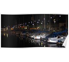Redondo Beach Harbor at Night 0913 Poster