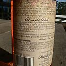 Blazin' Blush wine label (back view) by louisegreen