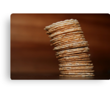 The Leaning Tower of Crackers Canvas Print