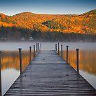 Autumn Morning at Lake Morey, Vermont by Mark Lancaster