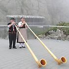 Alphorn Player, Pilatus Switzerland by itchingink