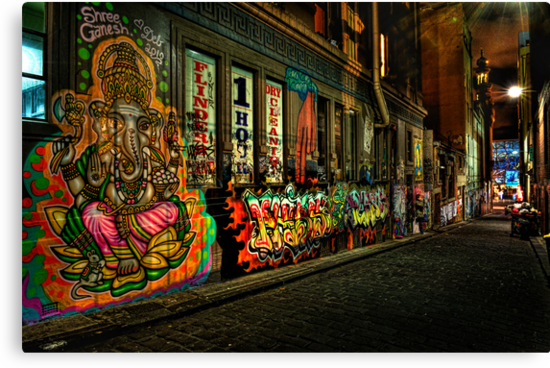 Hosier Lane Melbourne by Ian English