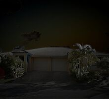 Moonlit Suburbia © Vicki Ferrari by Vicki Ferrari