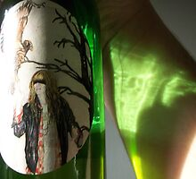 Bottle Reflection by Danielle  La Valle