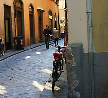 bycicle in ally by shilohrachelle