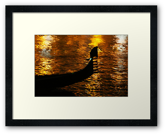 Gondola On Gold (No, It's Not The Loch Ness Monster!) by David McMahon