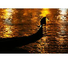 Gondola On Gold (No, It's Not The Loch Ness Monster!) Photographic Print