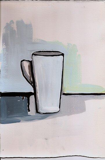 White Mug by KenzieWoods
