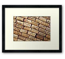 Wine Corks 1 Framed Print