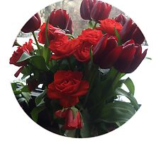 roses and tulips by Faith Puleston