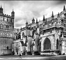 Exeter Cathedral Exterior by Jazzdenski