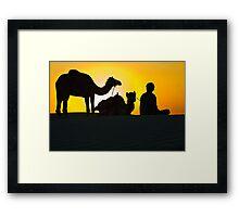 Sunset at Khuri Sand Dunes Framed Print