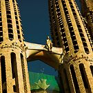 Antoni Gaudí's Sagrada Familia, Barcelona, Catalonia, Spain by Hugh Chaffey-Millar