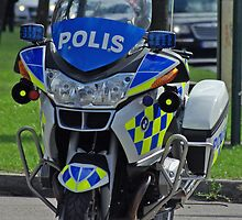 Swedish Police Motorcycle - BMW by Paola Svensson