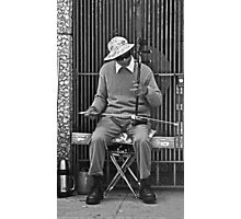 Chinatown Musician with His Erhu Instrument Photographic Print