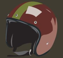 Red retro helmet by thamann