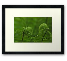 the chat Framed Print