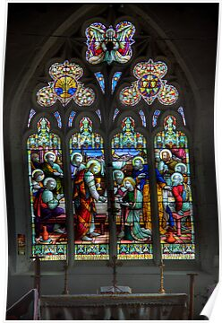 The Window at All Saints Misterton by Ray Clarke