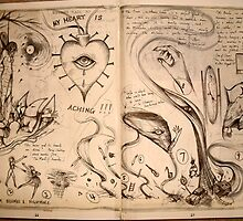 My Heart Is Aching! (1994 Sketchbook ) by John Dicandia  ( JinnDoW )