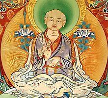 sakya patriach. tibetan painting by tim buckley   bodhiimages