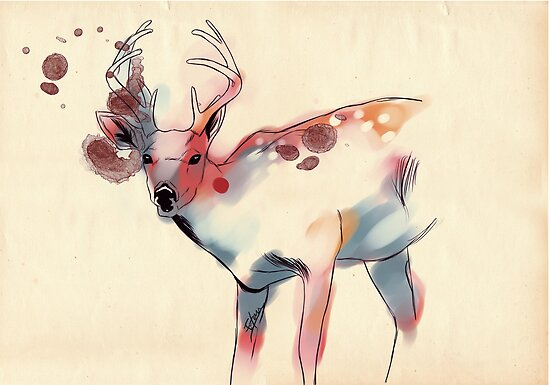 Lively Deer by EeVien Tan