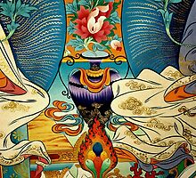tibetan wall painting. northern india by tim buckley   bodhiimages