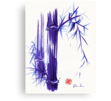 'Spring' Original ink and wash lavender bamboo painting Canvas Print