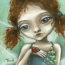 Irish Pixie - beautiful little fairy and a ladybird  by tanyabond