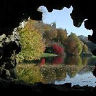Through the Grotto window at Stourhead by Spiritmaiden