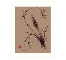 """""""As One""""  Original brush pen sumi-e bamboo drawing/painting Art Print"""
