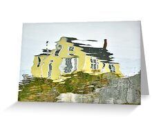 The Yellow House in Nova Scotia Greeting Card