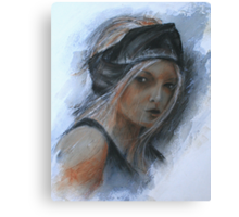 girl with black headband Canvas Print