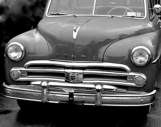 1959 Dodge front-B & W by henuly1