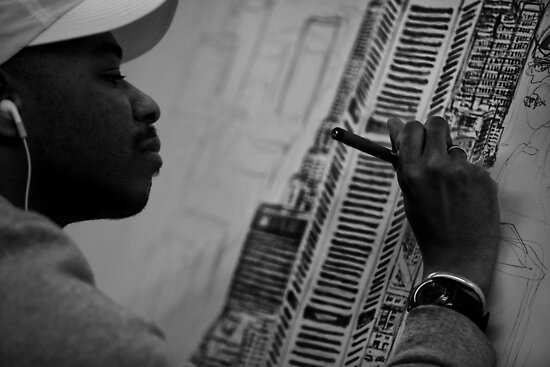 Stephen Wiltshire MBE by David Petranker